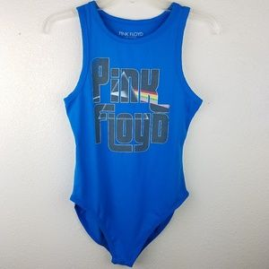 $SOLD$ PINK FLOYD Band Graphic Blue Bodysuit